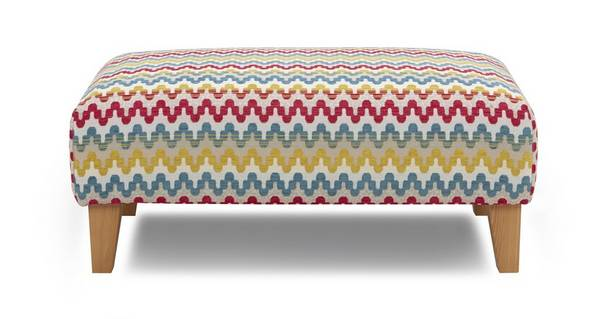 Sprint Pattern Banquette Footstool