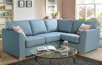 Sprint Left Hand Facing 2 Seater Corner Sofabed Revive