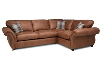 Formal Back Left Hand Facing 3 Seater Sofa Bed Corner Sofa