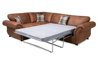 Formal Back Right Hand Facing 3 Seater Deluxe Sofa Bed Corner Sofa