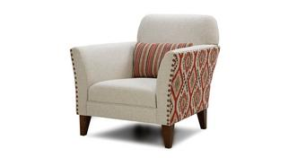 Stanton Aztec and Plain Accent Chair
