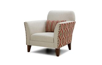Aztec and Plain Accent Chair Stanton