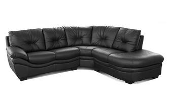 Leather and Leather Look Left Arm Facing Corner Sofa