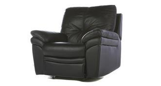 Status leder en lederlook Handbediende recliner stoel