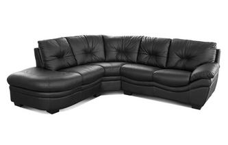 Leather and Leather Look Right Arm Facing Corner Sofa