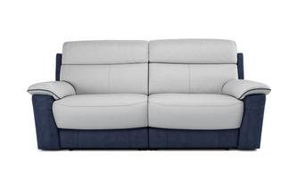 Stefano 3 Seater Manual Recliner Bacio Vellutato