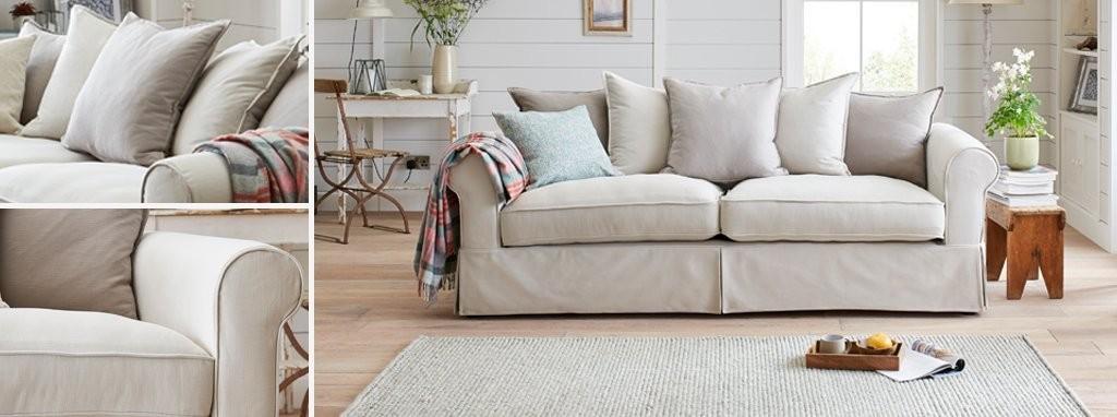 Brilliant St Ives Pillow Back 3 Seater Sofa Chargeable Loose Cover Inzonedesignstudio Interior Chair Design Inzonedesignstudiocom
