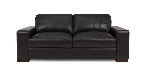 Stobart Leather and Leather Look 3 Seater Sofa