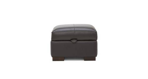 Stobart Leather and Leather Look Storage Footstool