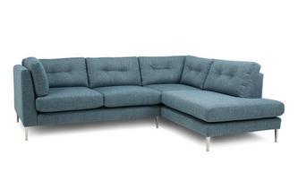 Left Hand Facing Arm Open End Corner Sofa