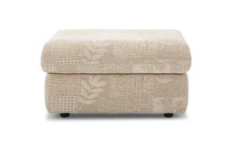 Fabric C Storage Footstool