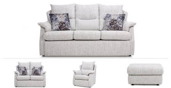 Stow Clearance 3 Seater, Small 2 Seater, Chair & Footstool