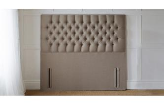 Double (4 ft 6) Headboard Faux Linen