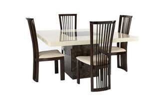 Square Table and 4 Salvadore Chairs