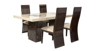 Strasbourg Rechthoekige vaste tafel en 4 Lima stoelen