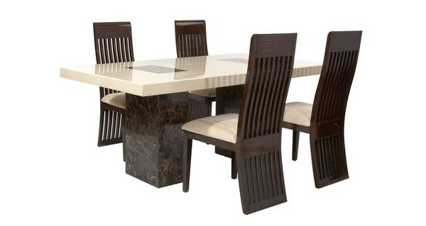 Strasbourg Rectangular Fixed Table and 4 Lima Chairs