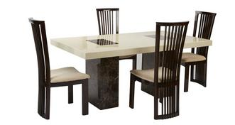 Strasbourg Rectangular Table and 4 Salvadore Chairs
