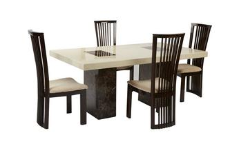 Rectangular Table and 4 Salvadore Chairs