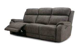 Fabric 3 Seater Power Plus Recliner Sofa
