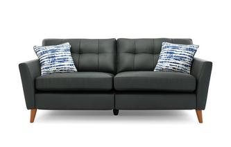 Leather 3 Seater Motion Sofa