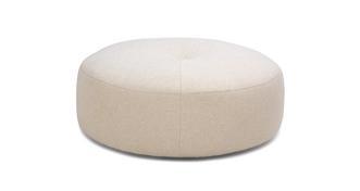 Sublime Plain Round Footstool