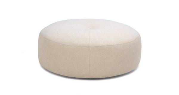 Sublime Plain Round Footstool