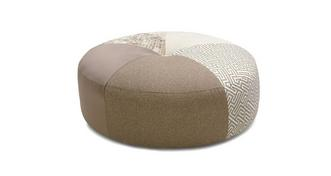 Sublime Pattern Round Footstool