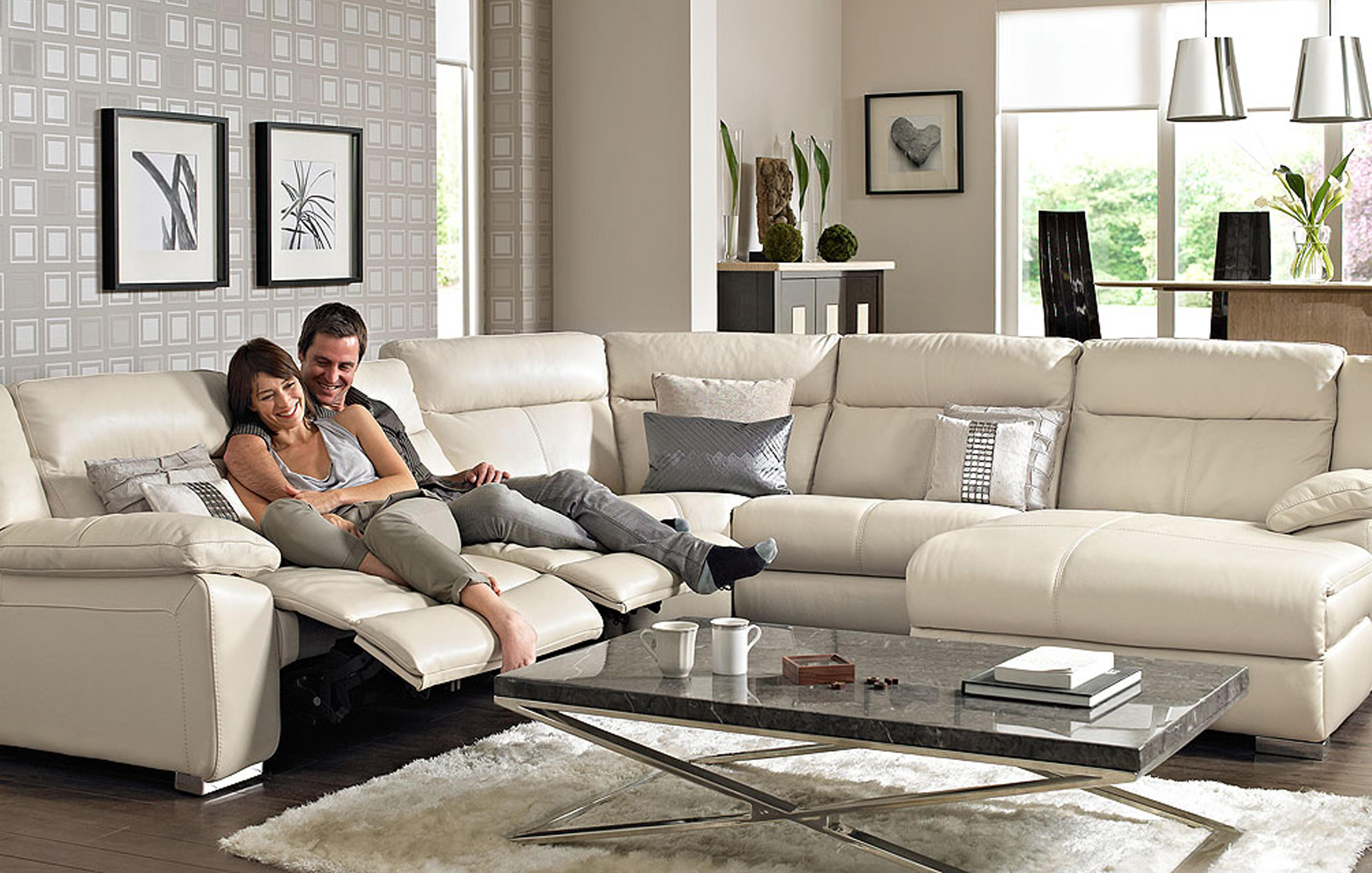 Corner Recliner Sofas In Fabric and Leather DFS