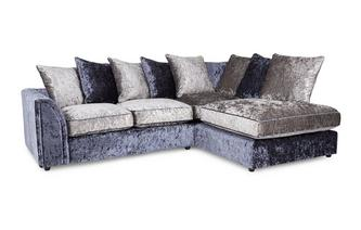 Left Hand Facing Arm 2 Piece Corner Sofa Glitz