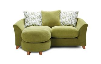 Pillow Back 2 Seater Lounger Sofa