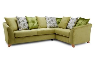 Pillow Back Left Hand Facing 3 Seater Corner Sofa