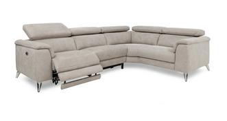 Tahiti Optie C Linkszijdige 2-zit 2-delige elektrische recliner hoekbank