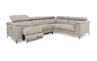 Option C Left Hand Facing 2 Seat 2 Piece Electric Recliner Corner Group Arizona