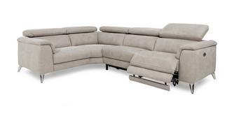 Tahiti Optie D Rechtszijdige 2-zit 2-delige elektrische recliner hoekbank