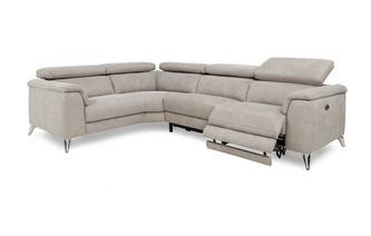 Option D Right Hand Facing 2 Seat 2 Piece Electric Recliner Corner Group