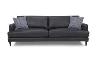 Leather and Pattern Extra Large Sofa