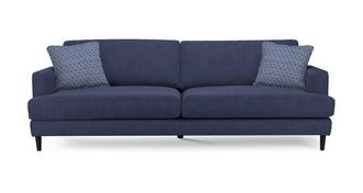 Tate Plain and Pattern Extra Large Sofa