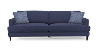 Tate Plain and Pattern Extra Large Sofa