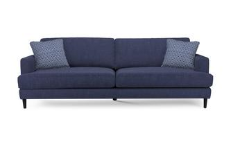 Effen en patroon Extra Large Sofa
