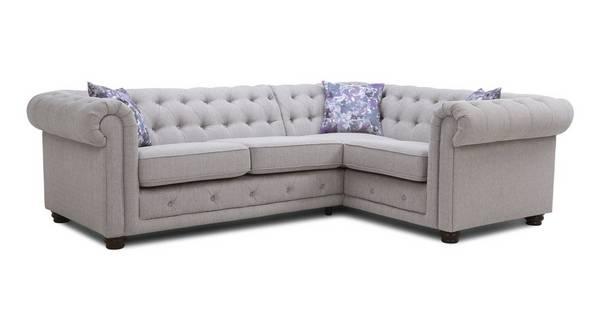 Thelma Left Hand Facing Arm 2 Seater Corner Sofa
