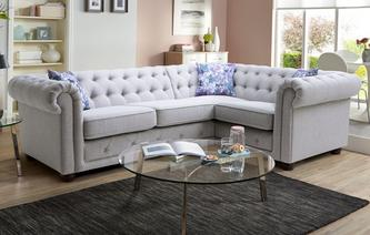 Thelma Left Hand Facing Arm 2 Seater Corner Sofa Opera