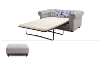 Thelma Sofabed Clearance 2 Seater Sofabed & Stool Opera