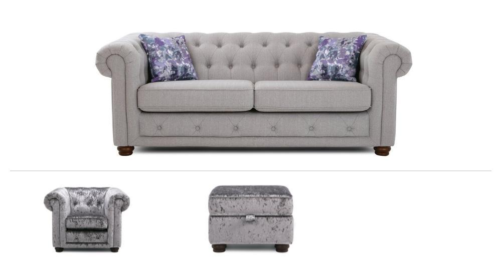 Thelma Clearance 3 Seater Sofa, Chair & Stool Opera | DFS