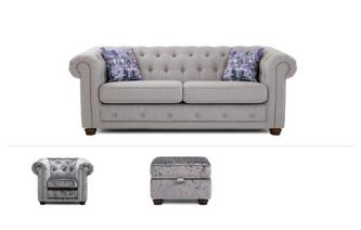 Thelma Clearance 3 Seater Sofa, Chair & Stool Opera