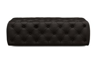 Deep Sheen Large Rectangular Footstool