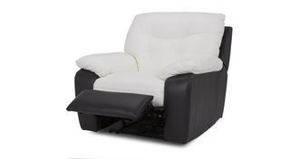 Thrive leder en lederlook Accu recliner stoel