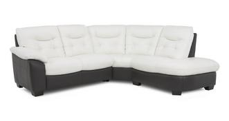 Thrive Option A Leather and Leather Look Left Arm Facing 2 Piece Corner Group