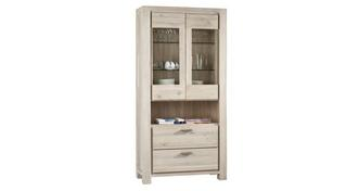 Tigre Glass Cabinet with 2 Doors and 2 Drawers