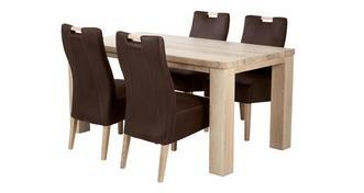 Tigre Kleine vaste tafel en 4 Zardos stoelen