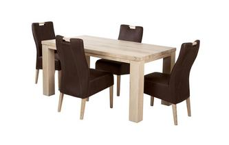 Medium Fixed table and 4 Zardos Chairs Tigre Oak